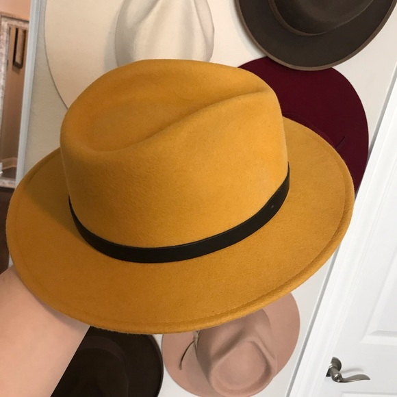 559dc3853 Brixton Mustard Yellow Medium Brim Hat